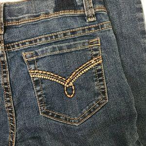 Bottoms - 😻 Girl flare leg embellished pocket jeans 12 Slim